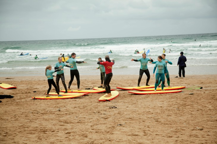 Surf Lesson at Watergate Bay