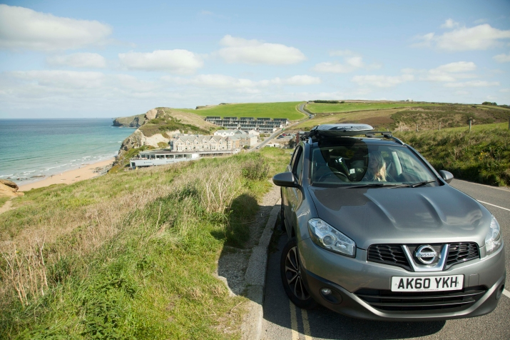 View of Watergate Bay Nissan