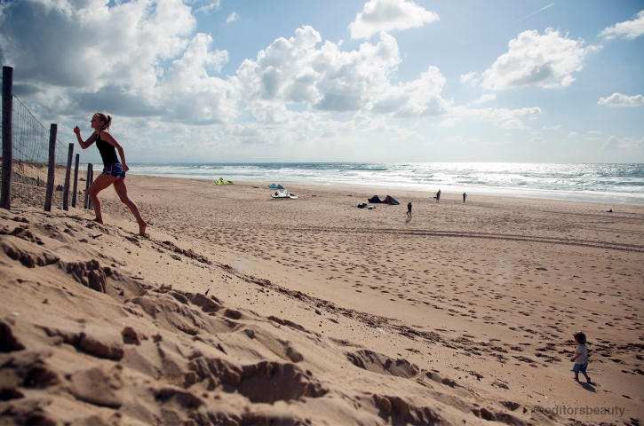 Hill Sprints on Beach Hossegor HIIT